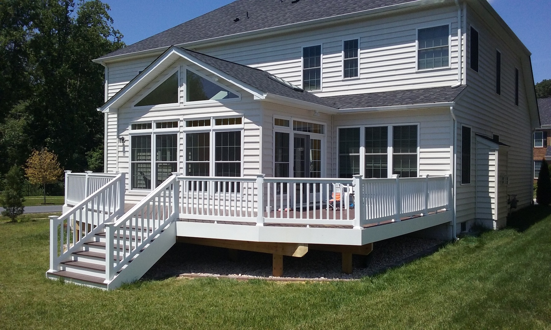 Deck builder patio builder porch builder porch for Cost to build a house in maryland