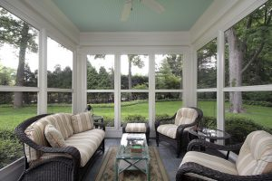 Sunroom with a beautiful view
